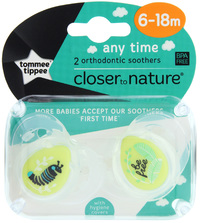 Closer to Nature Any Time Soother 6-18 Months (Be Free) - 2 Pack