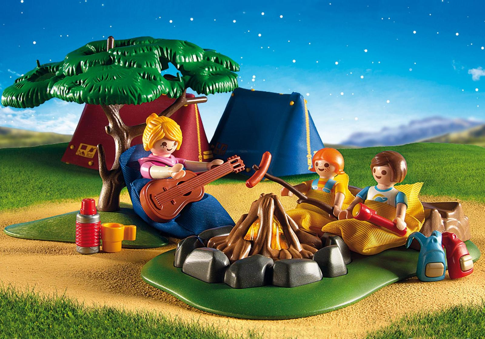 Playmobil: Summer Fun - Camp Site with LED Fire image
