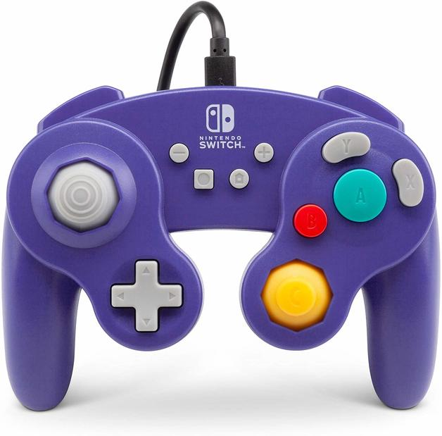 Nintendo Switch Wired GameCube Controller - Purple for Switch