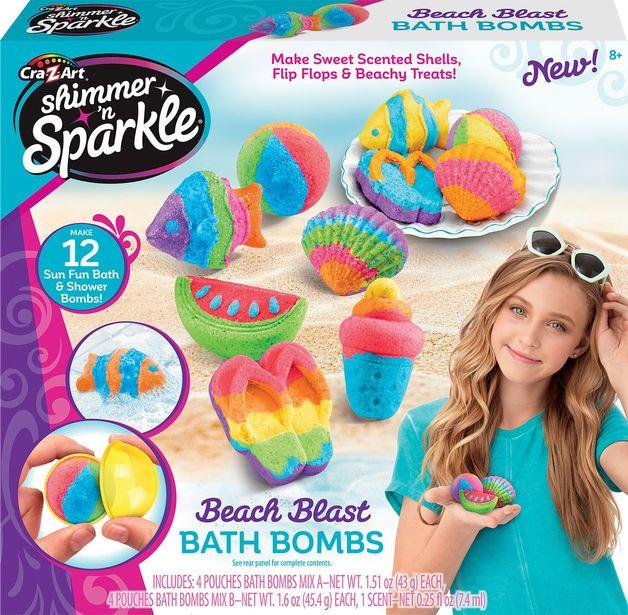 Cra-Z-Art: Shimmer 'n Sparkle - Make Your Own Bath Bomb - Beach Blast