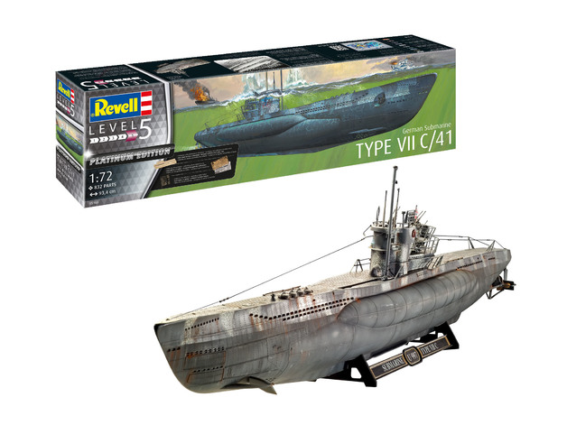 Revell: German Sub Type VII C - 1:72 Scale Model Kit