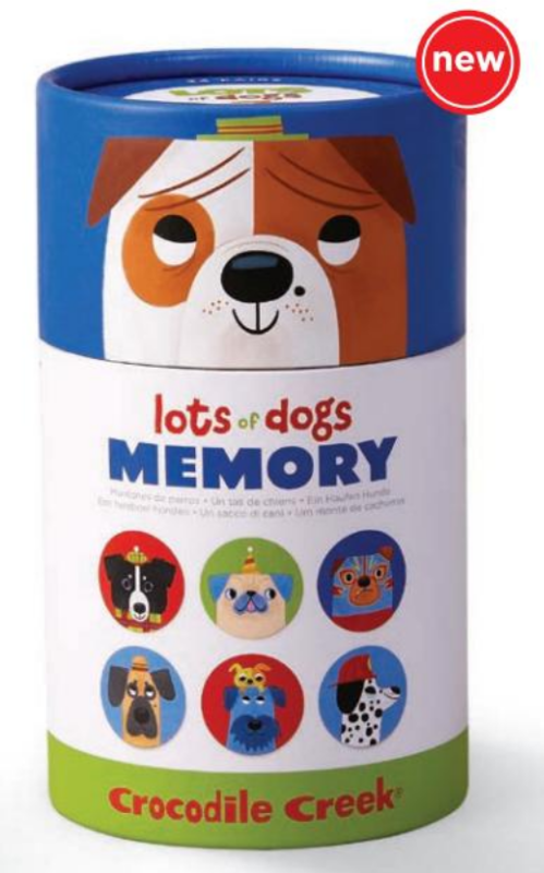 Crocodile Creek: Canister Memory Game - Lots of Dogs
