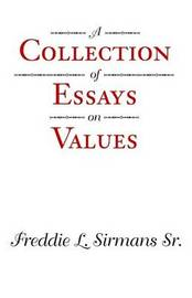 A Collection of Essays on Values by Freddie L Sirmans image