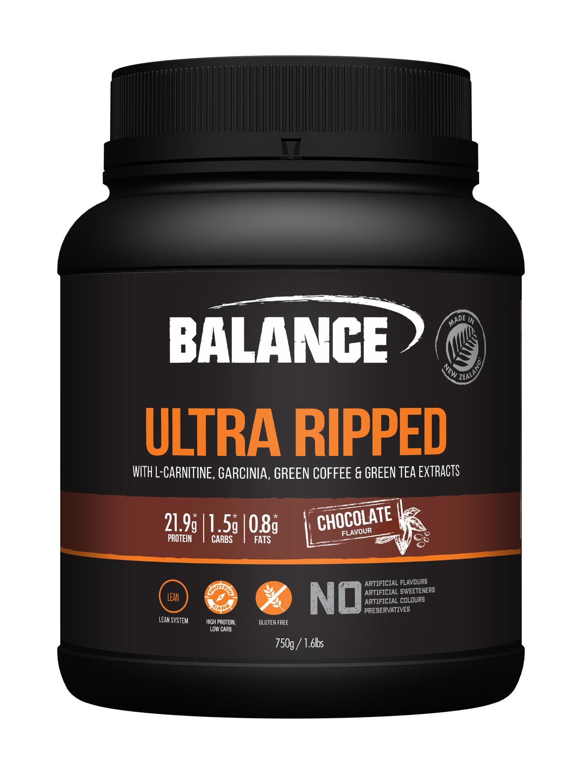 Balance Ultra Ripped Whey Protein - Chocolate (750g) image
