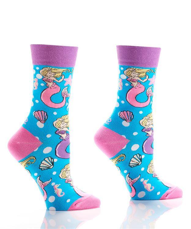 Mermaid and Seashell Women's Crew Socks image