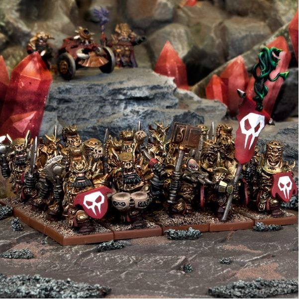 Kings of War Abyssal Dwarf Immortal Guard Regiment