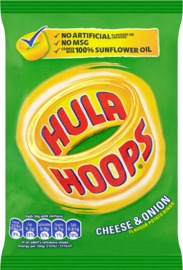 Hula Hoops Cheese & Onion - 34g