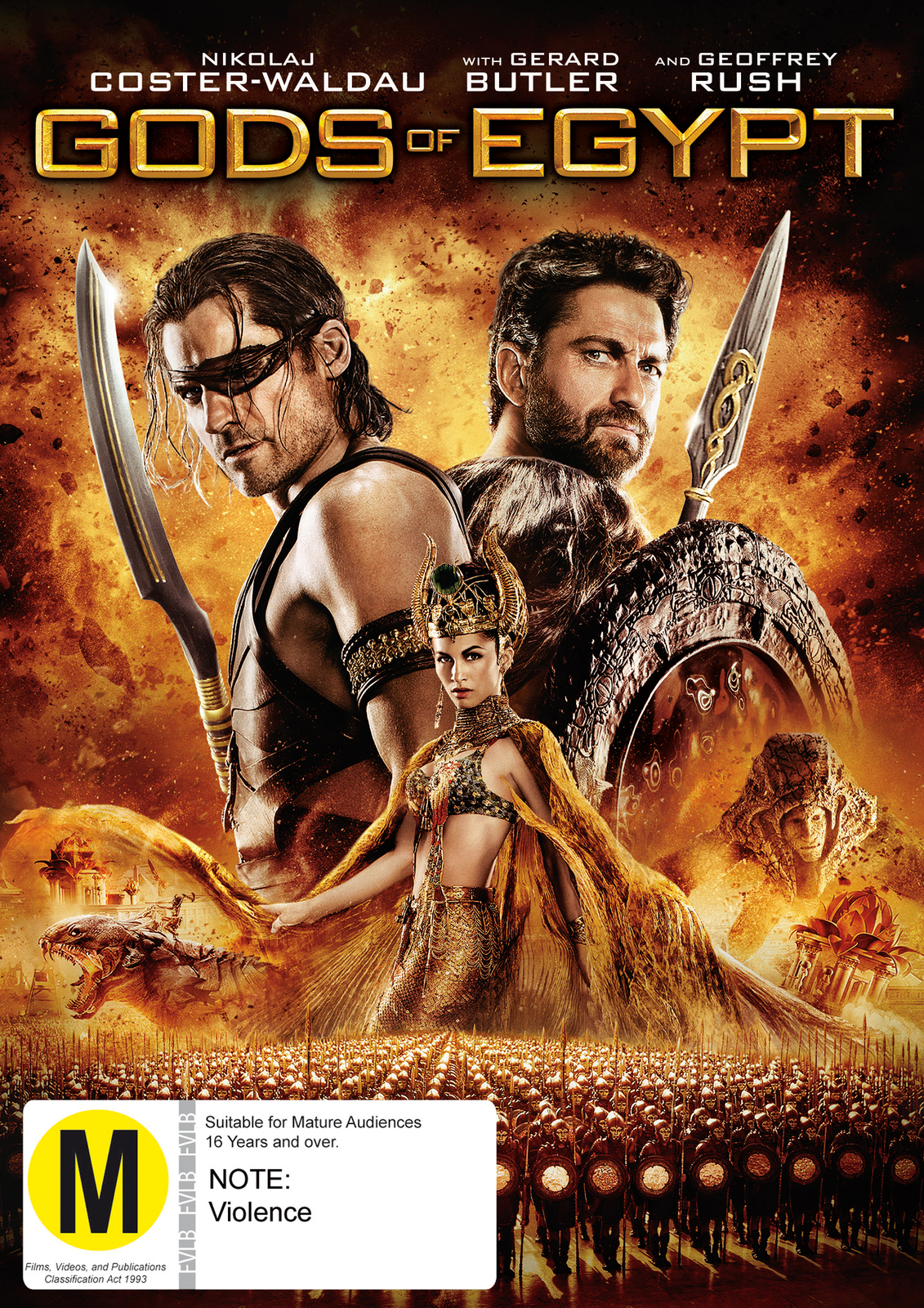 Gods Of Egypt on DVD image