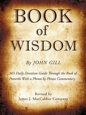 Book of Wisdom by John Gill image