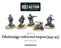 German Airborne - Fallschirmjager with looted weapons