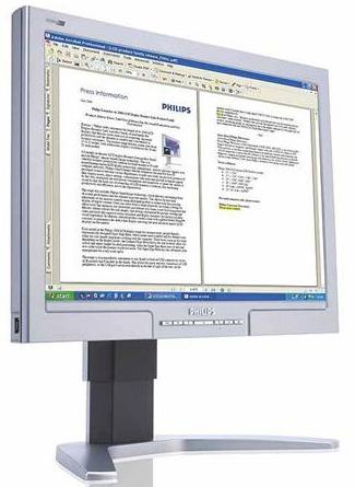 "Philips 20"" 200WS8FB Wide WSXGA Black LCD Monitor image"