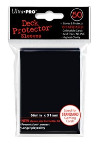 Ultra Pro: Deck Protector - Standard Black (100ct)
