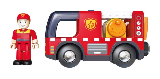 Hape: Fire Truck with Siren - Vehicle Playset