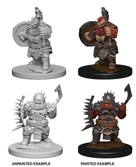 Pathfinder Deep Cuts Unpainted Miniatures: Dwarf Male Barbarian