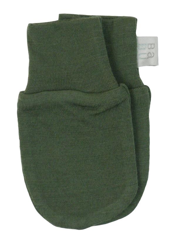 Babu: Merino Scratch Mittens - Khaki (0-3m)