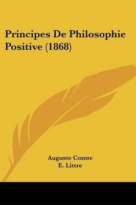 Principes De Philosophie Positive (1868) by Auguste Comte image