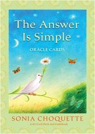 The Answer is Simple Oracle Cards by Sonia Choquette image