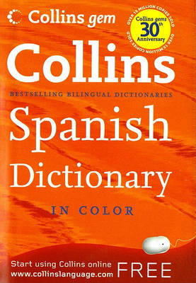 Collins Gem Spanish Dictionary, 8e by HarperCollins Publishers image