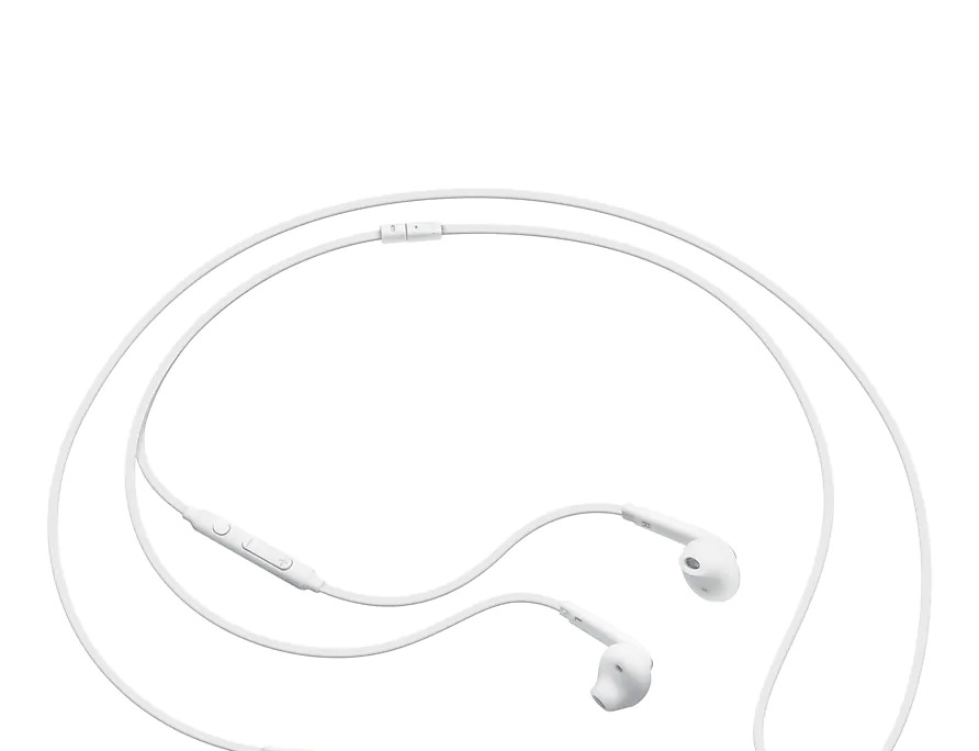 Samsung In-Ear Fit Earphones: - White (EO-EG920BW), Wearing Comfort and High-Quality Sound, Clearer Sound, Richer Bass Additional Ear wing Tip image