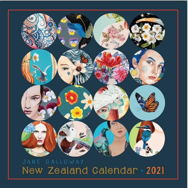 Jane Galloway: Palm Prints 2021 Wall Calendar
