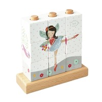 Floss & Rock: Wooden Cube Puzzle - Fairy Unicorn