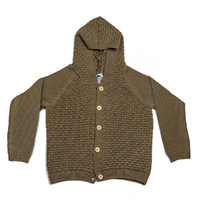 Cheeky Chimp: Knitted Critter Hood Cardigan (Size 4)