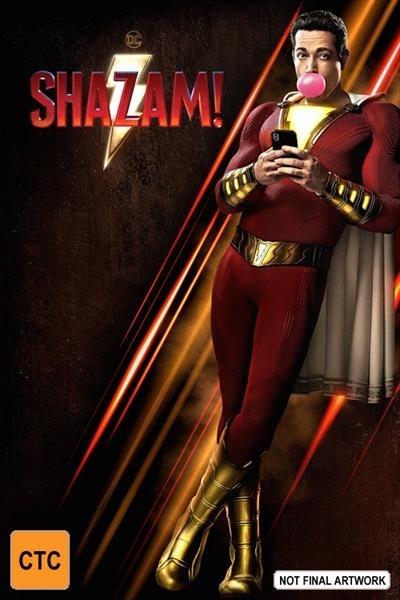 Shazam! on DVD image