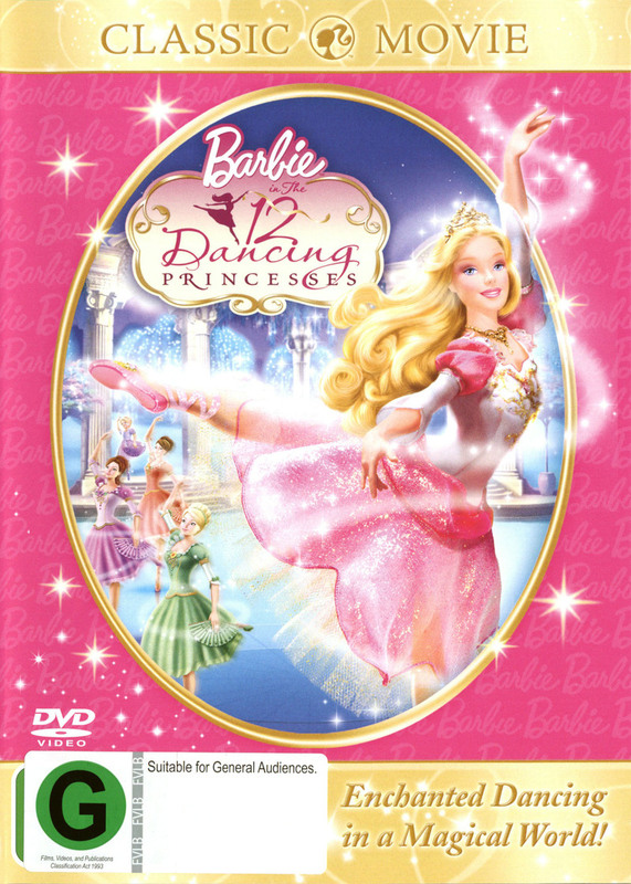 Barbie In The 12 Dancing Princesses on DVD