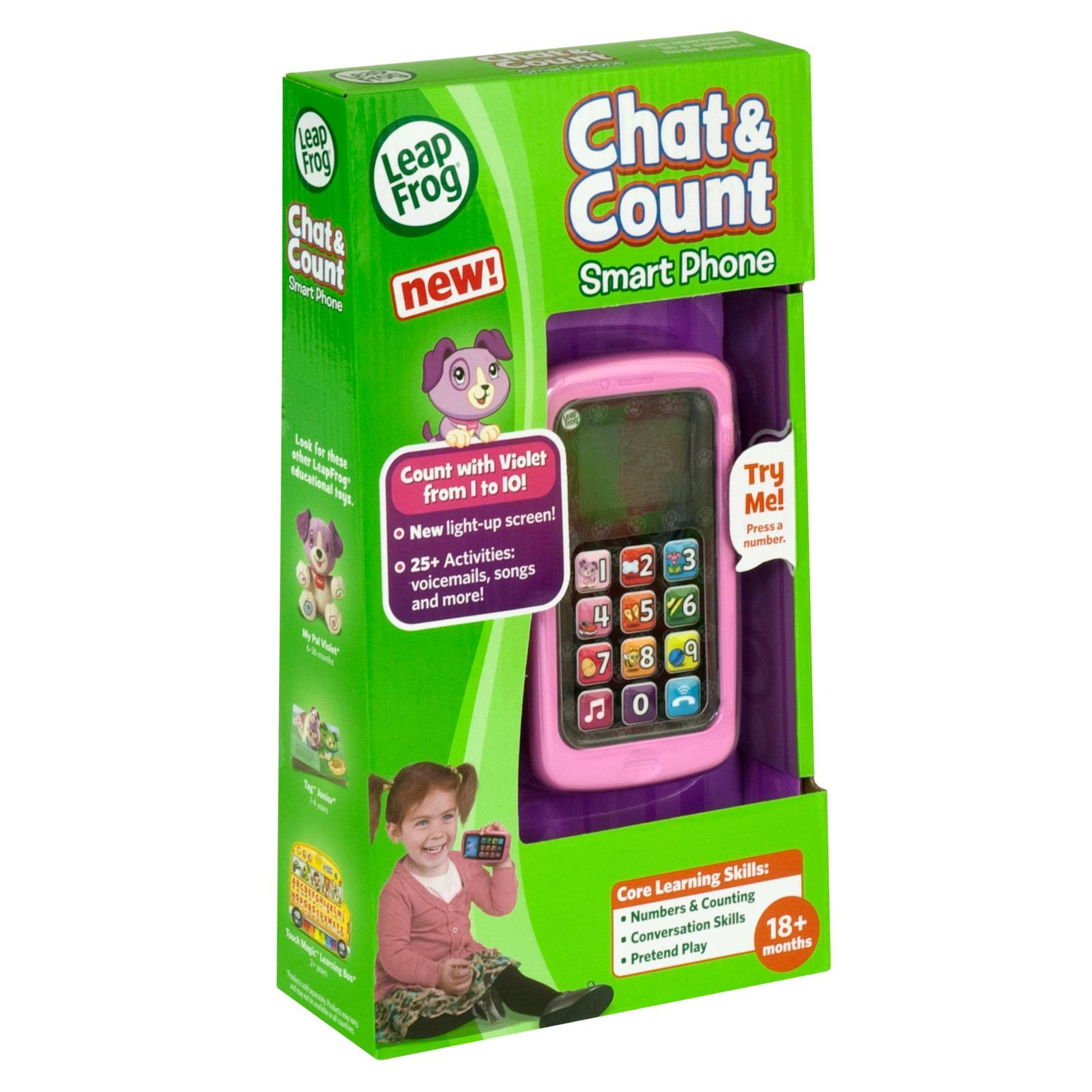Leapfrog Chat and Count Phone Violet | Toy