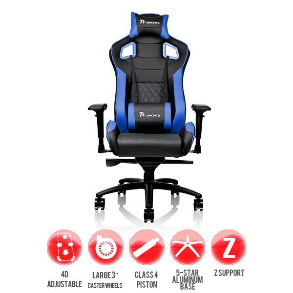 Thermaltake GT Fit Gaming Chair (Blue and Black) for