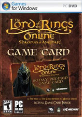 Lord of the Rings Online: Shadows of Angmar Timecard for PC Games