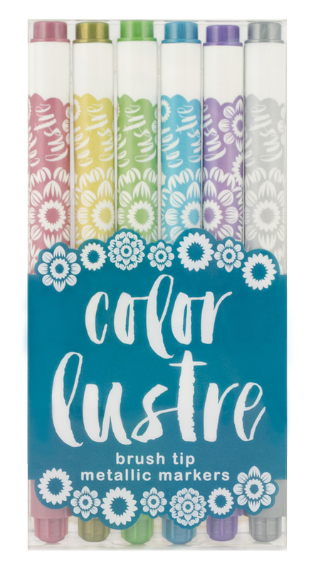 Color Lustre: Metallic Markers - Set of 6