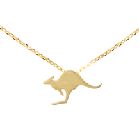 Short Story: Australiana Kangaroo Necklace - Gold