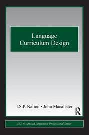 Language Curriculum Design by I.S.P. Nation