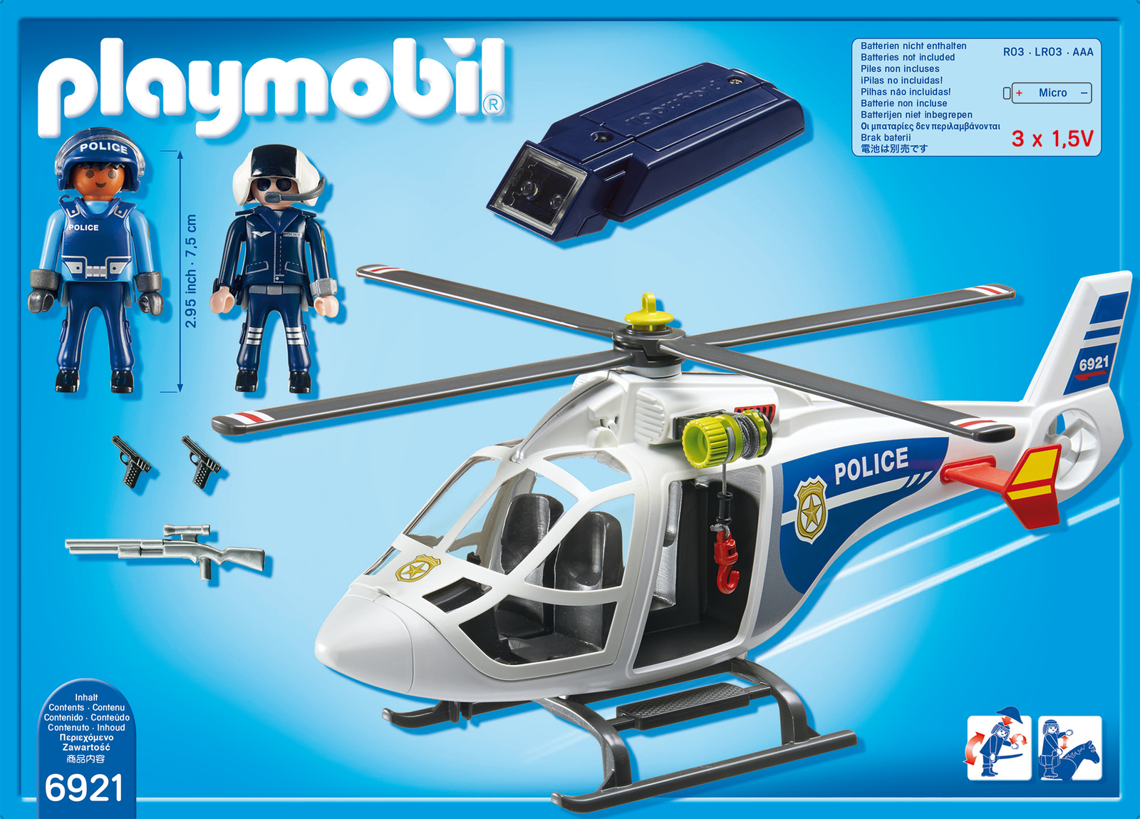 Playmobil: Police Helicopter with LED Searchlight image