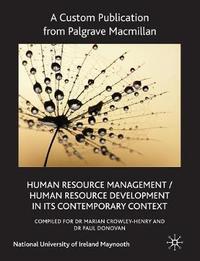 Custom Pub HRM/HRD Maynooth by Palgrave Macmillan Ltd