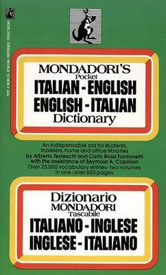 Mondadori's Pocket Italian-English, English-Italian Dictionary by Alberto Tedeschi image