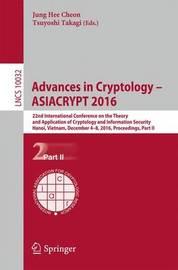 Advances in Cryptology - ASIACRYPT 2016 image