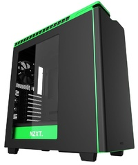 NZXT H440 Mid Tower Case 2015 Edition - Black/Green image