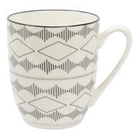 Etta Black and White Iberia Mug (8.5 x 11cm)