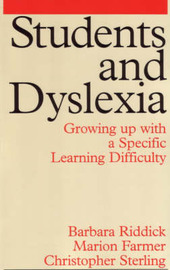 Students and Dyslexia by Barbara Riddick image