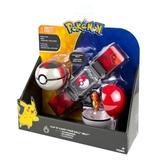 Pokémon: Poke Ball Belt (Fire) - Clip N Carry Set