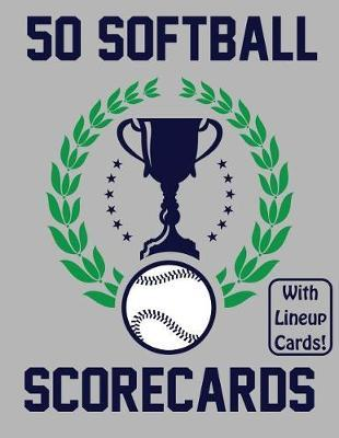 50 Softball Scorecards With Lineup Cards by Francis Faria
