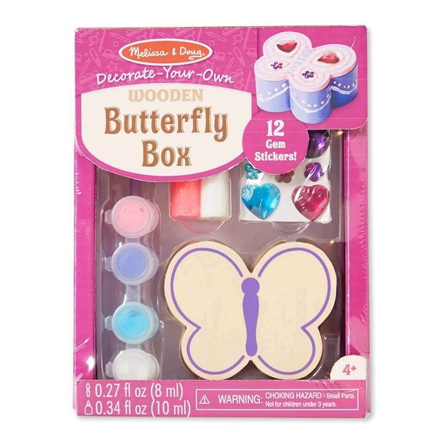 Melissa & Doug: Decorate Your Own - Butterfly Box