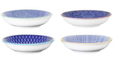 Cobalt Blue Village Kiln Ceramic Dipping Dishes - Set of 4