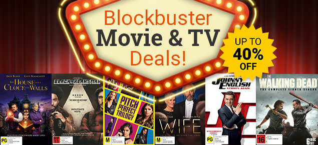 Blockbuster Movie & TV Deals! Save up to 40% off!