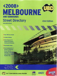 UBD Melbourne and Surrounds Street Directory