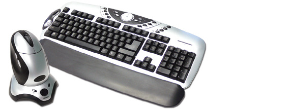 Laser Wirelessmax ergonomic cordless multimedia  keyboard with 5 button optical mouse and charger