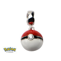 Pokemon Pokeball Silver Dangle Bead Charm