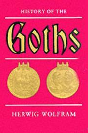 History of the Goths by Herwig Wolfram image